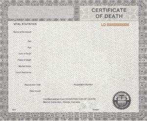 37 Blank Death Certificate Templates [100% Free] ᐅ Templatelab regarding Fake Death Certificate Template
