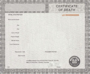 37 Blank Death Certificate Templates [100% Free] ᐅ Templatelab throughout Best Blank Death Certificate Template 7 Documents