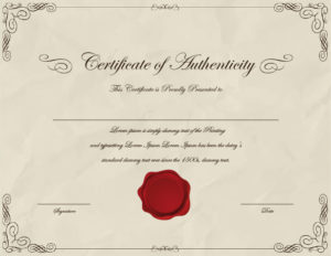 37 Certificate Of Authenticity Templates (Art, Car Throughout Unique Authenticity Certificate Templates Free