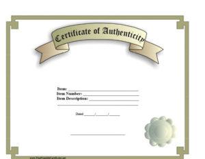 37 Certificate Of Authenticity Templates (Art, Car with Best Certificate Of Authenticity Templates