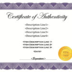 37 Certificate Of Authenticity Templates (Art, Car Within Unique Authenticity Certificate Templates Free
