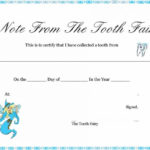 37 Tooth Fairy Certificates & Letter Templates – Printable Regarding Free Tooth Fairy Certificate Template