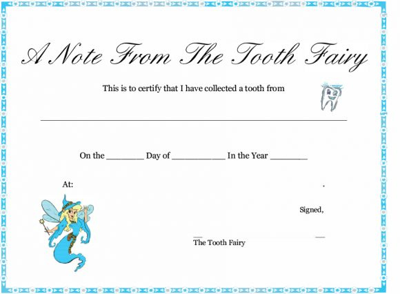 37 Tooth Fairy Certificates & Letter Templates - Printable regarding Free Tooth Fairy Certificate Template