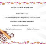 39+ Free Softball Award Certificates Templates – Ideas And In Best Softball Certificate Templates
