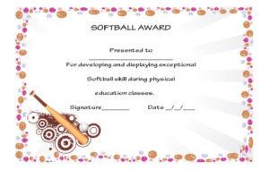 39+ Free Softball Award Certificates Templates – Ideas And pertaining to Free Softball Certificate Templates