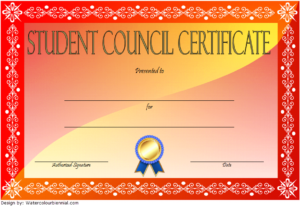 3Rd Student Council Certificate Template Free | Student for Student Council Certificate Template