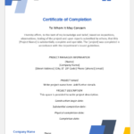 4 Certificate Templates For Completion Of A Project | Word For New Certificate Of Construction Completion