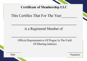 4+ Free Sample Certificate Of Membership Templates within Best Llc Membership Certificate Template