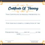 4+ Printable Sample Certificate Of Training Template In Template For Training Certificate
