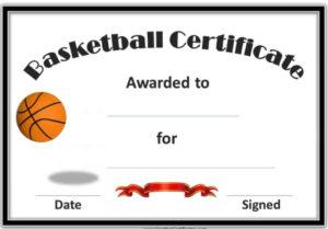 4 Sample Basketball Tournament Certificate Templates in Unique Basketball Tournament Certificate Template Free