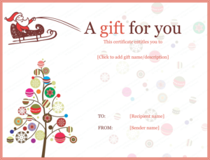 40 Awesome Christmas Gift Certificate Templates To End 2020! throughout Homemade Christmas Gift Certificates Templates