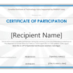40+ Certificate Of Participation Templates – Printable Templates With Templates For Certificates Of Participation