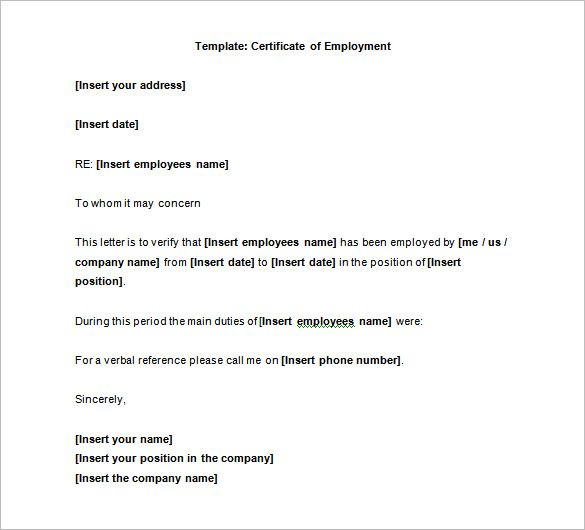 40+ Employment Certificates - Pdf, Doc   Letter Of in New Certificate Of Employment Template