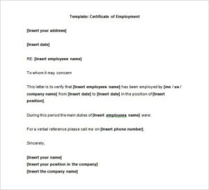 40+ Employment Certificates – Pdf, Doc | Letter Of with Fresh Template Of Certificate Of Employment