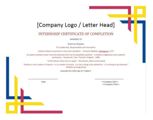 40 Fantastic Certificate Of Completion Templates [Word in New Completion Certificate Editable