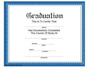 40+ Graduation Certificate Templates & Diplomas – Printable with regard to Diploma Certificate Template Free Download 7 Ideas
