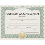 40 Great Certificate Of Achievement Templates (Free In Fresh Blank Certificate Of Achievement Template