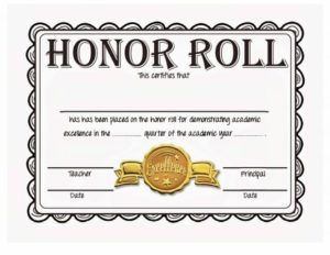 40+ Honor Roll Certificate Templates & Awards – Printable for New Editable Honor Roll Certificate Templates