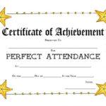 40 Printable Perfect Attendance Award Templates & Ideas Inside Perfect Attendance Certificate Template Free