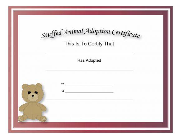 40+ Real & Fake Adoption Certificate Templates - Printable for Unique Cat Adoption Certificate Templates