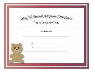 40+ Real & Fake Adoption Certificate Templates – Printable In Cat Adoption Certificate Template 9 Designs