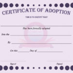 40+ Real & Fake Adoption Certificate Templates – Printable Inside Pet Birth Certificate Template