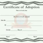 40+ Real & Fake Adoption Certificate Templates – Printable Intended For Adoption Certificate Template