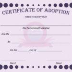 40+ Real & Fake Adoption Certificate Templates - Printable intended for Pet Adoption Certificate Template Free 23 Designs
