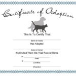 40+ Real & Fake Adoption Certificate Templates – Printable Intended For Pet Birth Certificate Template 24 Choices