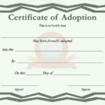 40+ Real & Fake Adoption Certificate Templates – Printable Regarding Pet Birth Certificate Template 24 Choices