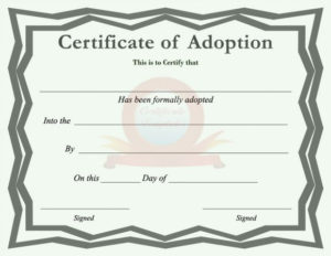 40+ Real & Fake Adoption Certificate Templates – Printable Regarding Pet Birth Certificate Template 24 Choices