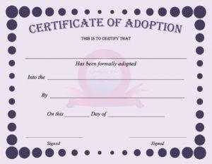 40+ Real & Fake Adoption Certificate Templates – Printable throughout Child Adoption Certificate Template
