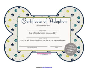 40+ Real & Fake Adoption Certificate Templates – Printable With Regard To Pet Birth Certificate Template 24 Choices