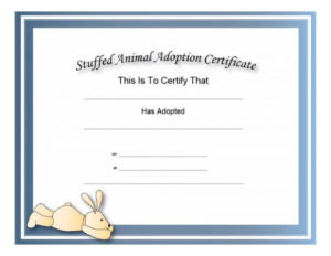 40+ Real & Fake Adoption Certificate Templates – Printable within New Stuffed Animal Adoption Certificate Template Free