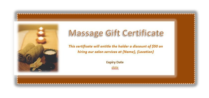 41 Free Gift Certificate Templates In Ms Word And In Pdf Format in Massage Gift Certificate Template Free Download
