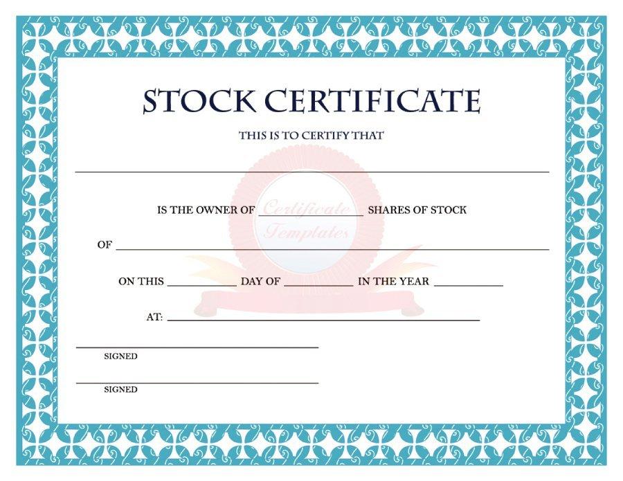 41 Free Stock Certificate Templates (Word, Pdf) - Free for Editable Stock Certificate Template