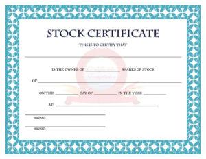 41 Free Stock Certificate Templates (Word, Pdf) – Free for Unique Free 10 Certificate Of Stock Template Ideas