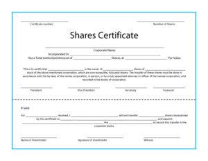 41 Free Stock Certificate Templates (Word, Pdf) – Free intended for Free Stock Certificate Template Download