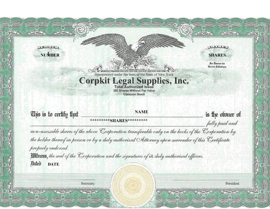 41 Free Stock Certificate Templates (Word, Pdf) – Free Throughout Fresh Corporate Share Certificate Template