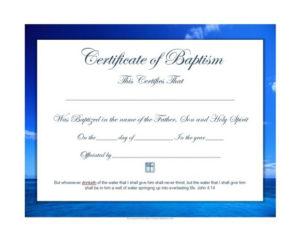 47 Baptism Certificate Templates (Free) – Printable Templates for Fresh Baptism Certificate Template Word