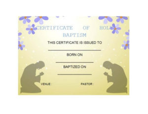 47 Baptism Certificate Templates (Free) – Printable Templates in Free 24 Martial Arts Certificate Templates 2020