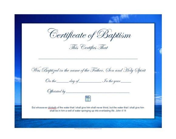 47 Baptism Certificate Templates (Free) - Printable Templates in Quality Baptism Certificate Template Download