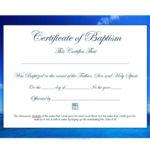47 Baptism Certificate Templates (Free) – Printable Templates In Roman Catholic Baptism Certificate Template