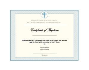 47 Baptism Certificate Templates (Free) – Printable Templates throughout Baptism Certificate Template Word Free