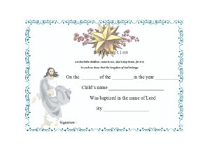 47 Baptism Certificate Templates (Free) – Printable Templates throughout Unique Baby Death Certificate Template