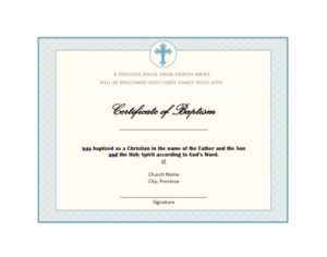 47 Baptism Certificate Templates (Free) – Printable Templates with regard to Baptism Certificate Template Word