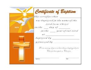 47 Baptism Certificate Templates (Free) – Printable Templates with regard to Roman Catholic Baptism Certificate Template