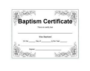 47 Baptism Certificate Templates (Free) – Printable Templates within Baptism Certificate Template Download