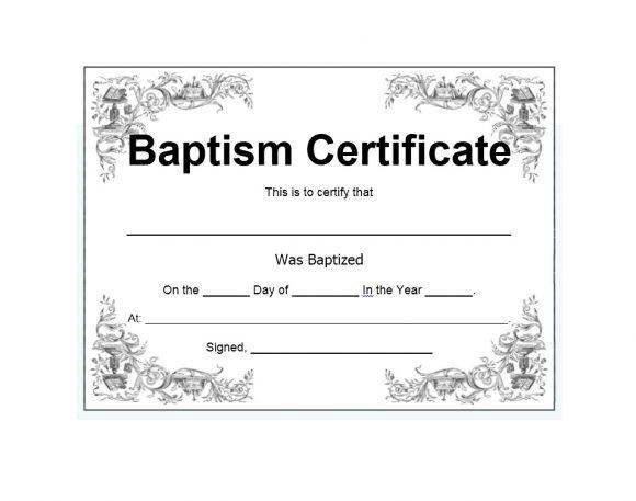 47 Baptism Certificate Templates (Free) - Printable Templates within Baptism Certificate Template Download