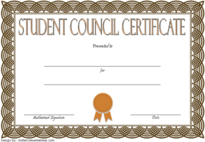4Th Student Council Certificate Template Free | Student throughout New Student Council Certificate Template